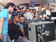 (l-r) Asst. Director RS Francisco, apl.de.ap, Erin Pascual and JA Tadena