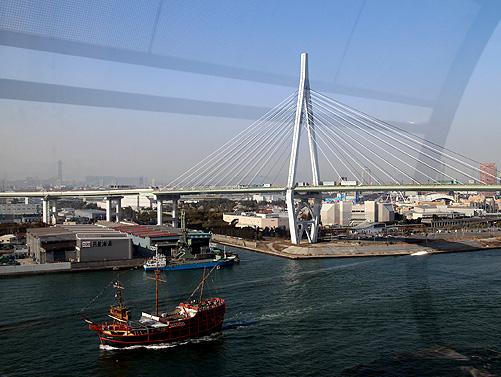 view of Tempozan Bridge
