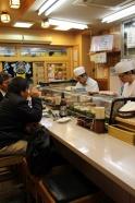 sushi master at work.