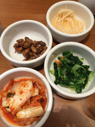 different side dishes/appetizers
