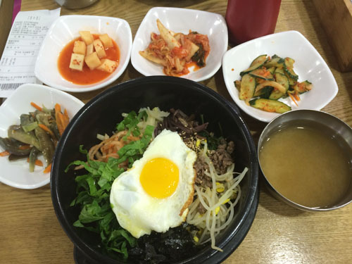 bibimbap and appetizers