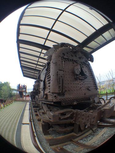 train destroyed during the war (Imjingak Park)