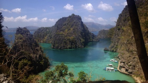 view from the top before going down Kayangan Lake