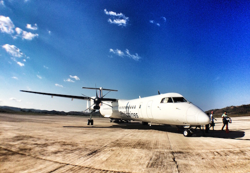 the plane i rode in on the Busuanga airport runway